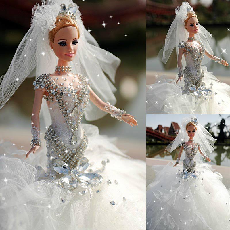Purely Hand Made Wedding Bride Doll Tipped Bit Yarn Craft