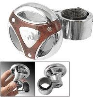 Car Auto Brown Silver Tone Steering Wheel Spinner Knob
