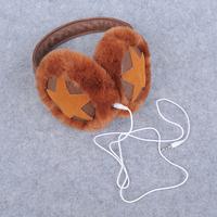 2014 female earmuffs music earphones faux leather thermal earmuffs ear package