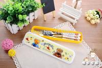 Hellokitty cartoon ceramic handle stainless steel knife and fork spoon chopsticks t. HELLO KITTY bone china tableware