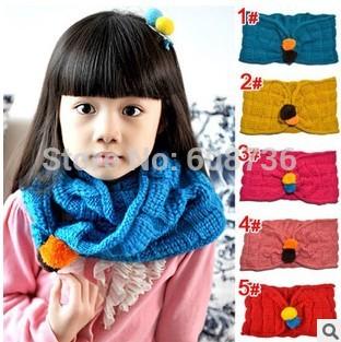 1Pcs Retail Winter Children's Muffler Baby Warm Scarf Boy /Girl Knitted O Ring Scarf Kids Shawls Free Shipping #0205(China (Mainland))