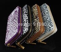 Promotion Brand New Wallets,Good Quality Women's Fashion Organizer Purse,Tiger Leopard Designer Elegant Notecase Clutch,SJ115