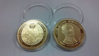 Wholesale Free shipping 10pcs/lot russian president putin gold plated coin 40*3mm