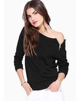 European New Autumn Outfit 2014 European Fashion Long-sleeved Side Zippers Thin Fleece Jacket Casual Blouse