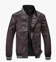 2014 New Brand Autumn Men's Outerwear Fleece Thickening Jacket Coat 3 Colors Winter Stand Collar Men Jacket Coats