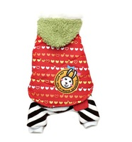 Retail Large Dog Witner Clothes Fashion Rabblit Jumpsuit Hot Selling Dog Clothes Coat Pet Clothing Red Blue 5 Sizes Available