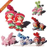 Christmas Gifts,6pairs Strawberry Baby Hair Accessories,Girls Hairpins,Cartoon Hair Clips, hair bands,hair ropes