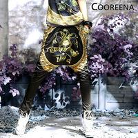 Women Fashion Waist outfit hip-hop printed female trousers Harem Drop Crotch Elastic Hip Hop Pants