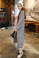 Goddess V Neckline Long Sleeves Crochet Knit Long Cardigan for Woman Free Shipping