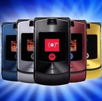 Free shipping 100% Original Unlocked Motorola Razr V3i GSM mobile phone Russian keyboard one year warranty
