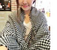 Fashion Unisex Oversized Black white Tartan Cozy Checked Plaid Scarf Wrap Shawl
