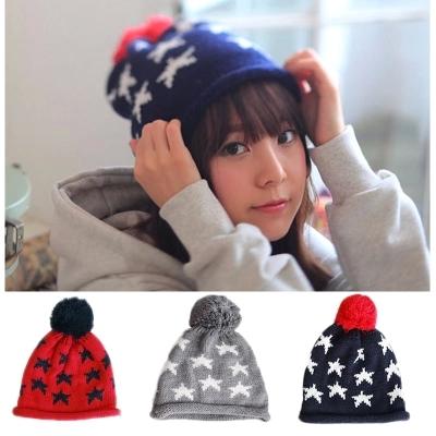 2014 Autumn winter hat Woolen beret Knitted hat star pattern(China (Mainland))
