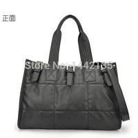 2014 Winter handbags new fashion women's new European and American fashion box padded shoulder bag handbag trend cotton block