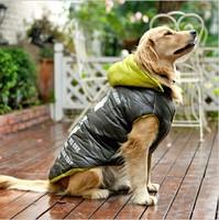 Large Dog Winter Snow Clothes Warn Jacket Cotton Padded Coat 72cm Length Golden Retriever Labrador Samoyed Dog Clothes
