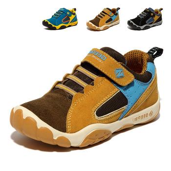 2014 дышащий детская обувь девушки парни туфли новый бренд детей кроссовки из кожи по уходу за детьми спортивная обувь свободного покроя кроссовки