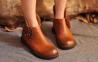 [ORIGINAL STYLE] women's cowhide short boots 100% genuine leather short martin boots  women handmade flats shoes