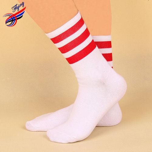 FLYING Hot Sell Fashion Men Socks 2014 meias masculinas,Color Striped Male Elite Cotton Socks Sports Basketball Skateboard Socks(China (Mainland))