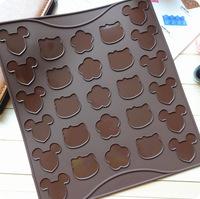 Min. order is $15 (mix order) cartoon  bear love pentacle DIY silicone oven baking macarons pad