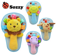 2015 new sozzy Baby Rattles & Mobiles toys for 0-12 months infant plush toy newborn gift  Free Shipping