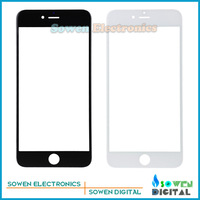 Outer LCD Screen Lens Top Glass for iPhone 6 4.7 inches lens,Black white,Best quality,Free Shipping