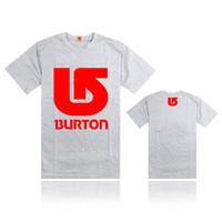 So Hot Fashion Casual BURTON t-Shirts Pure Cotton Short Sleeve Element Tshirts Men Burton t Shirt Summer Cheap Tee Shirt