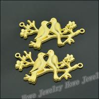 20  pcs Charms Magpies Pendant  Gold color  Zinc Alloy Fit Bracelet Necklace DIY Metal Jewelry Findings JC575