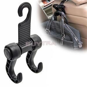 2014 New HE Practical Car Truck Seat Back Hooks Organizer Black Universal Storage Hooks EH(China (Mainland))