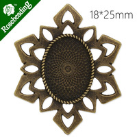 18x25mm antique bronze plated pendant tray,snowflake shape,pendant blank,pendant bezel,lead and nickle free,sold 20pcs/lot-C4291