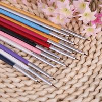 Professional nail tools Nail Brushes Colorful Nail Art Design Painting Tool Pen Polish Brush Set Kit DIY 12pcs