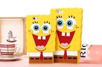 new arrival fashion cartoon SpongeBob SquarePants silicon case cover for iphone 6 6 plus 4.7/5.5 inch case cover 10pcs/lot
