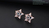 Accessories wholesale 18 k gold plated allergy free joker contracted fashion Pentagram women jewelry