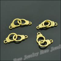 100 pcs Charms Handcuffs Pendant  Gold color  Zinc Alloy Fit Bracelet Necklace DIY Metal Jewelry Findings JC565