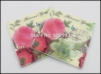 Food-grade Flower Paper Napkin Para Festas & Party Valentine's Day Tissue Napkin Supply Decoration Paper 33cm*33cm 1pack/lot