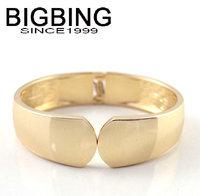 BigBing jewelry Fashion golden alloy cuff bangle fashion jewelry good quality nickel free Free shipping! J986