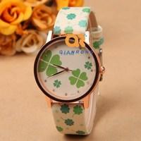 Ladies fashion watch promotion gift women's watches leisure beautiful children Leather Watch strap vintage flower wristwatches