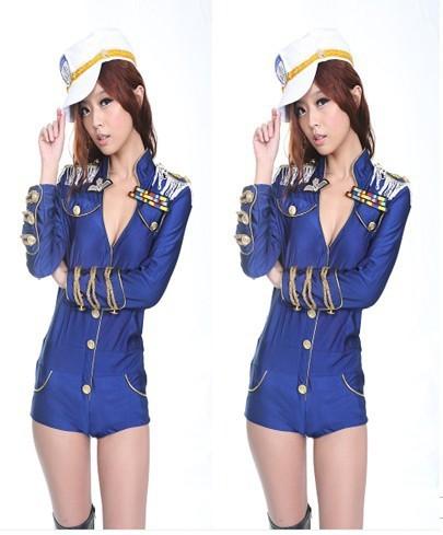 lingerie plus size mulheres novo terno marinho siameses feminino ds colar traje de dança moderna roupa palco clube para uniforme policial(China (Mainland))