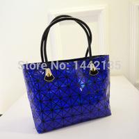 2015 New winter handbag Issey Miyake bag BAO BAO ISSEY MIYAKE stitching hit color handbag shoulder bag