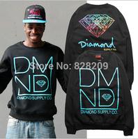 Free Shipping 2014 New arrival diamond mens Long sleeve crew neck men hoody sweater hoodie hiphop Sweater men sportswear M-XL