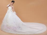 Salomon Wedding Dresses White Strapless Floor-length Court Bridal Gown Natural Waist Vestido de noiva Plus Size X187