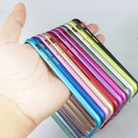 For iPhone 6 3D Circle arc design Plum buckle  Bumper  Ultra thin Slim Aluminium Metal  Frame for iphone6 plus