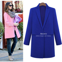 2014 loose elegant female medium-long woolen overcoat woolen outerwear