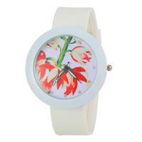 2015 New Fashion Women Quartz Watch Casual Rhinestone Watches Fashion silicone watch -5
