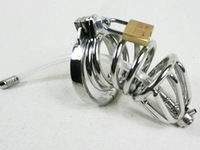 Hot sale! Steel penis ring Male Chastity Art Device/Cage/Cock ring/Sex toys/ Top Fasion Chastity Belts Stainless Steel Cage CB
