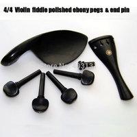 New Arrivals 4/4 Violin Part /Black Fiddle Polished Ebony Pegs & End Pin, Vintage Design Polished EbonyTP Project Free Shipping