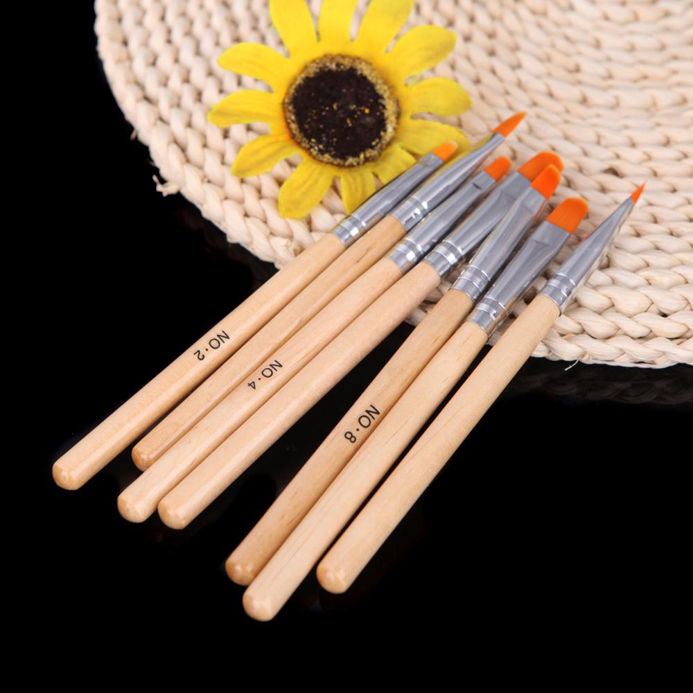 DIY Professional Nail Tools Nail Art Design Painting Tool Pen Polish Brush Set Kit Nail Brushes styling tools 7pcs(China (Mainland))
