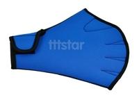 Swimming Webbed Gloves Blue Fingerless Surfing Swim Aid Paddle Glove neoprene+ nylon fabric hot sale wholesale 12371