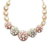 Christmas gift fashion colorful jewelry wholesale flowers statement necklace candy luxury choker necklace