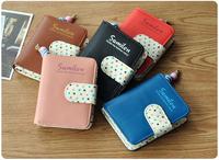 HOT Women Artificial Leather Short Zipper Bag Card Holder Purse Clutch Wallet