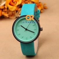 Fabric Strap clock women unisex watch Textured kids wrist quartz watch men Fashion Lady Watches 10 colors best quality wholesale
