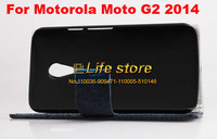 Leather Case Stand Case Cell Phone Case Credit Card Case  For Motorola Moto G (2014) (2nd Gen.)Moto G2 Moto G+1